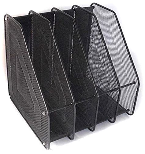 upright paper holder for desk superbpag 4 upright sections assemble mesh desk organizer