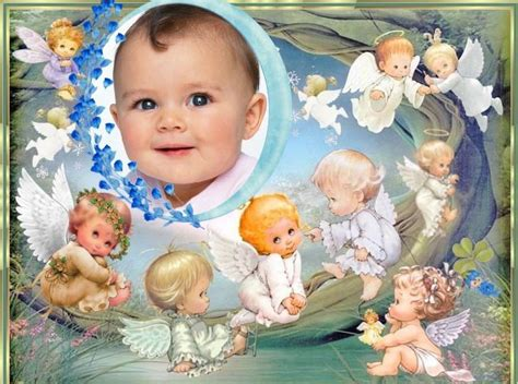 decorar fotos de bebes gratis fotomontaje de 225 ngeles para beb 233 s fotomontajes infantiles