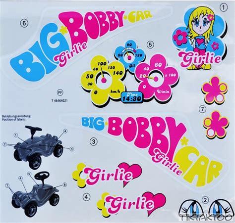 Bobby Car Aufkleber Maße by Big Bobby Car Aufkleber Sticker Classic Girlie Bobbycar