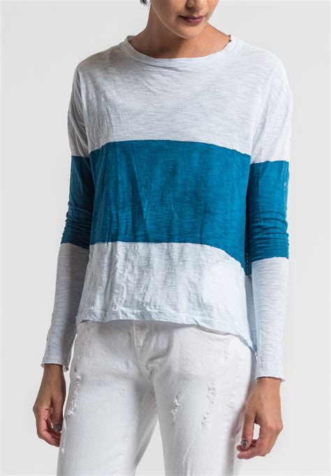 White Cly 2in1 gilda midani pattern dyed sleeve trapeze in sea white santa fe goods