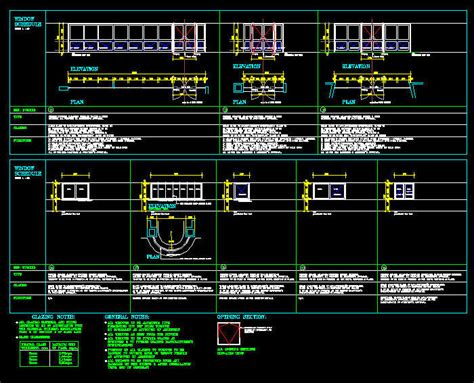 window templates for autocad cad drawing window schedule template 5