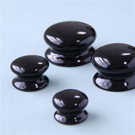 black knobs for kitchen cabinets black ceramic cabinet knobs