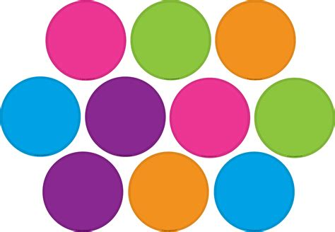 color circles bright colors circles accents tcr5189 created