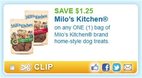 target milo s kitchen dog treats only 1 17 with coupon