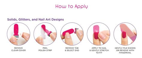 how to apply nail strips