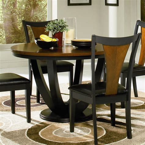 Black And Cherry Dining Table Coaster Furniture 102091 Boyer Dining Table In Black Cherry Homeclick