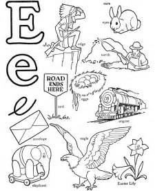 color starting with e letter e coloring page az coloring pages