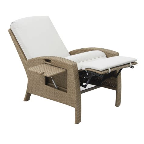 outdoor rattan reclining chairs outsunny outdoor rattan wicker recliner lounge chair with