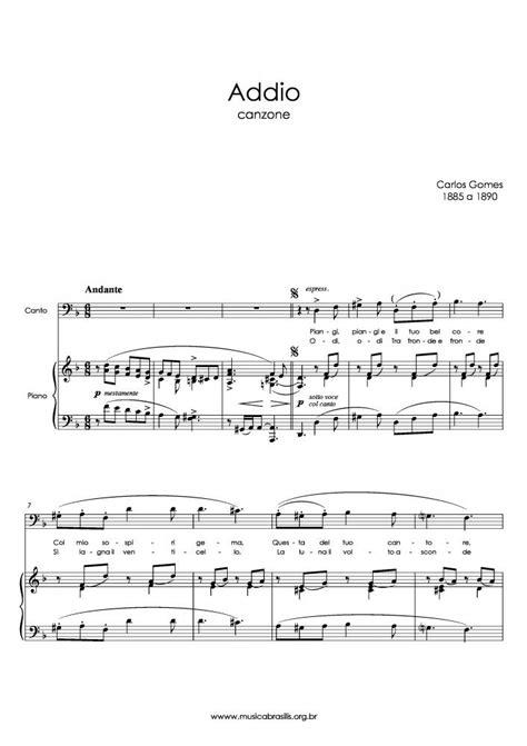 Carlos Gomes - Addio | Musica Brasilis