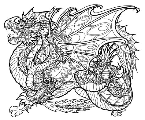 free printable coloring pages for adults advanced dragons malachite sentinel lineart by rachaelm5 deviantart com on