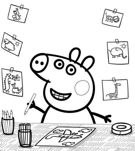 peppa pig coloring pages nick jr peppa pig colouring book printable nick jr