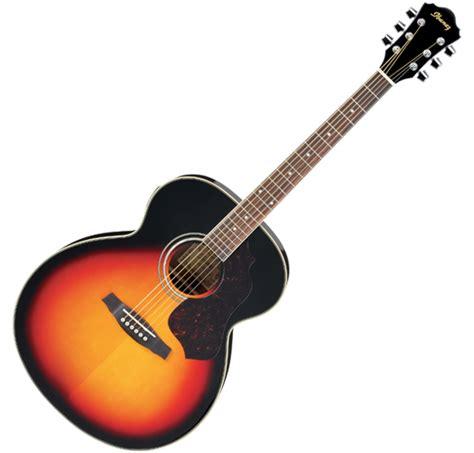 musicworks guitars acoustic guitars acoustic guitars ibanez jumbo acoustic vintage sunburst
