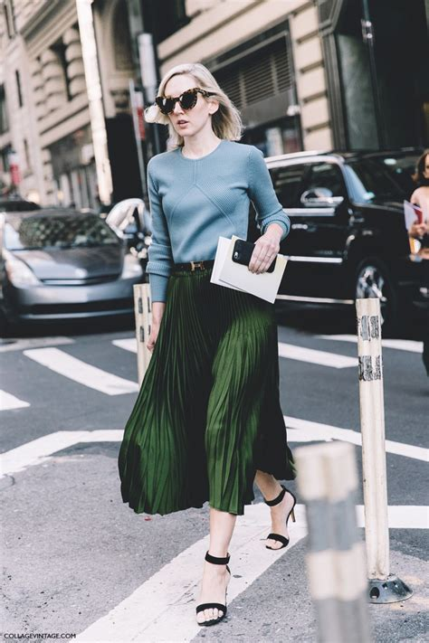 New York Fashion Week Goes Green new york fashion week style 2 collage vintage