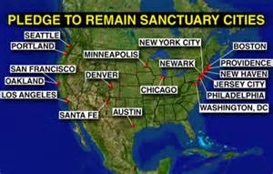 sanctuary cities map in us cities caving to pres s sanctuary city threats not