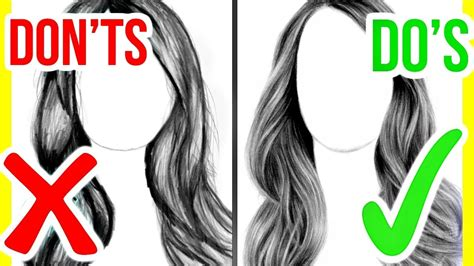 how to hair girl dos and donts of diy hair coloring dos donts how to draw realistic hair step by step