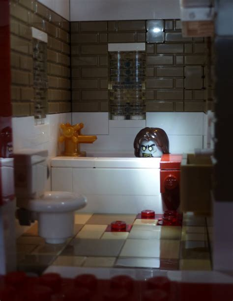 woman in bathtub the shining horror bathroom the shining inspired special lego themes eurobricks forums