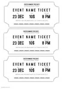 printable event tickets free event ticket template black and white printable postermywall