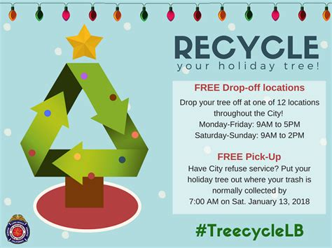 recycle christmas trees near me treecycle lb