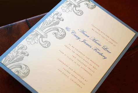 fleur de lis invitations wedding invitations custom - New Orleans Style Wedding Invitations