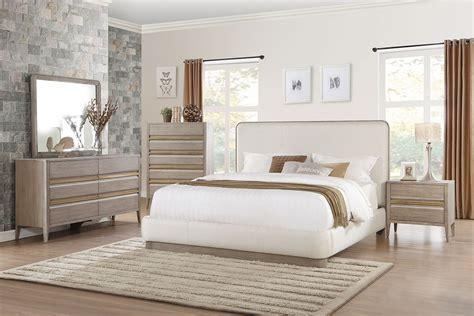 gold bedroom furniture homelegance aristide upholstered platform bedroom set