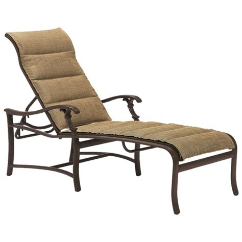 padded chaise lounge ravello padded sling chaise lounge tropitone