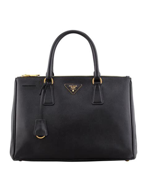 Tas Branded Prada Saffiano 2 Zipper Black prada saffiano zip executive tote bag black nero
