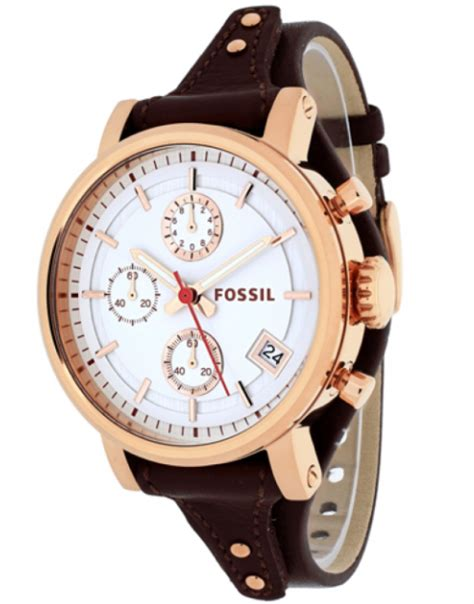 Fossil 3616 Leather Brown fossil s original boyfriend brown leather es3616