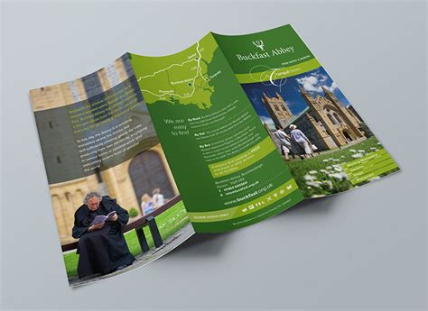 design information leaflet client case study buckfast abbey tourist information