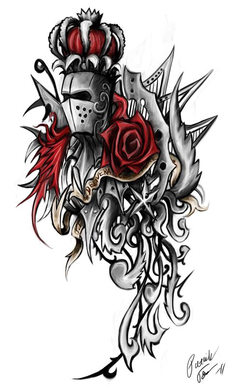 knight and dragon tattoo designs ornament by patrike on deviantart