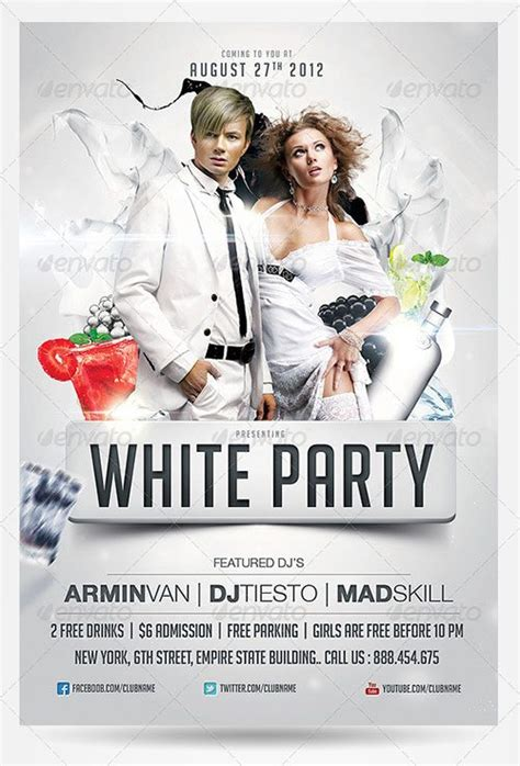 White Flyer Template Free all white affair flyer www imgarcade image