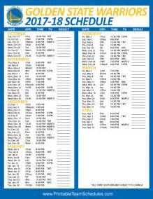 warriors home schedule printable team schedules nfl mlb nba nhl