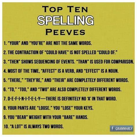 top pet peeves spelling pet peeves grammar pinterest spelling pets and pet peeves