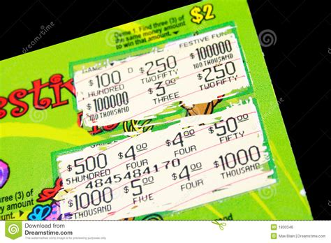 Dream About Winning Money On A Scratch Ticket - lotto ticket royalty free stock image image 1830346