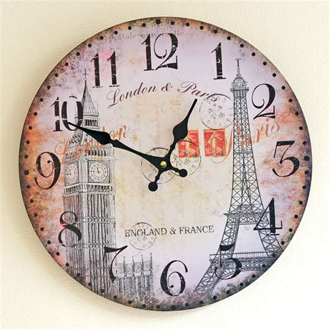 large vintage style wall clocks