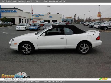 1999 Toyota Celica Convertible 1999 Toyota Celica Gt Convertible White Black