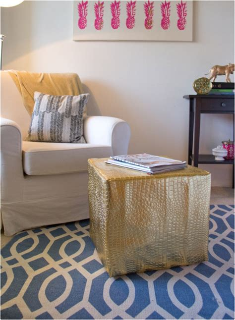 diy leather ottoman top 10 diy ottomans top inspired