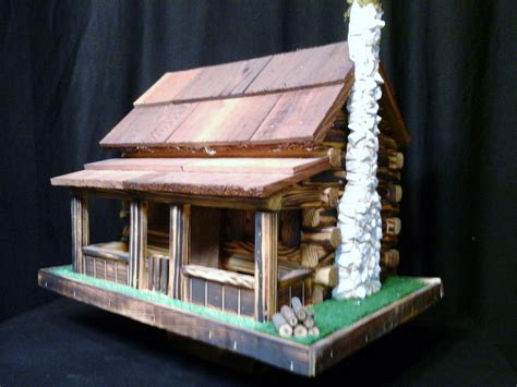 Log Cabin Bird Feeders log cabin bird feeder amish handmade handcrafted color ebay