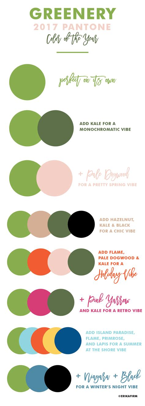2017 color combinations greenery 2017 pantone color of the year erika firm