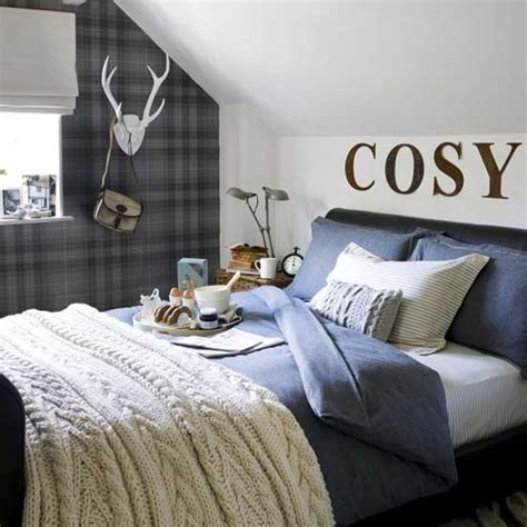 plaid bedroom ideas cosy bedroom bedroom design plaid wallpaper