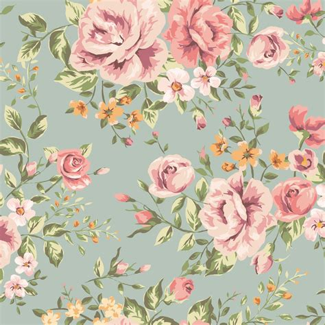 Vintage Flowers Pattern classic seamless vintage flower pattern tap to see more