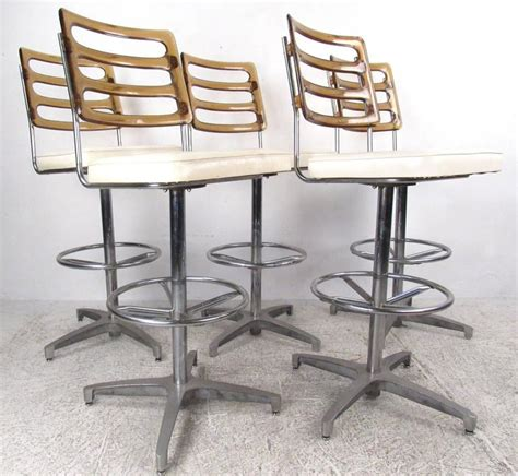 lucite bar stools for sale set of mid century lucite and vinyl bar stools by chrome