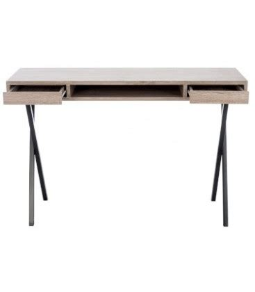 Wood Desk With Metal Legs by Design Desk Wood And Black Metal Legs With 2 Drawers Jline Wadiga