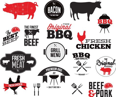 grill bbq restaurant vector free