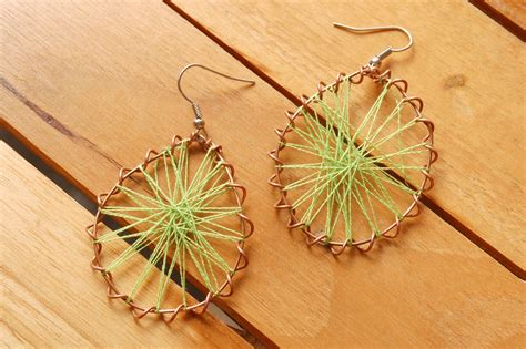 to make how to make peruvian thread earrings 11 steps with pictures