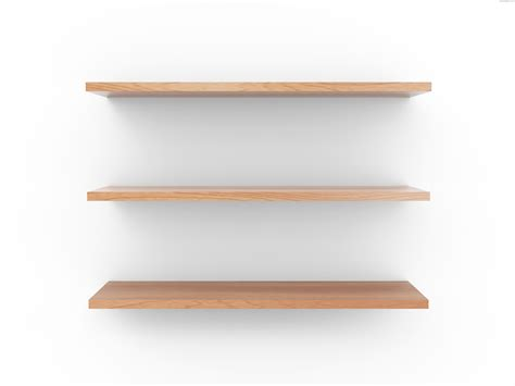 On A Shelf by Empty Wooden Shelf Psdgraphics