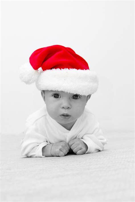 baby with santa s hat free stock photo public domain