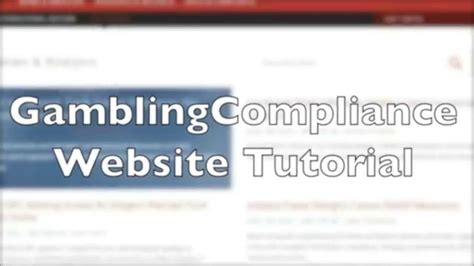 Website Tutorial Youtube | gamblingcompliance website tutorial youtube