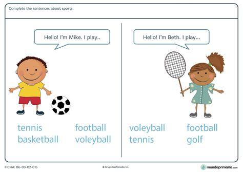 preguntas basicas sobre futbol ejercicios de ingl 201 s para ni 241 os de primaria para imprimir