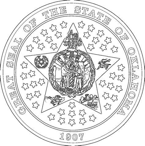 oklahoma flags emblems symbols outline maps