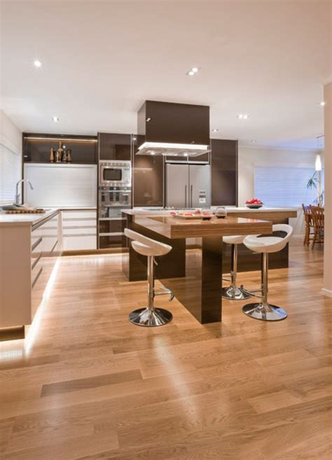 modern l shaped kitchen with island 30 kitchen islands with tables a simple but very clever combo
